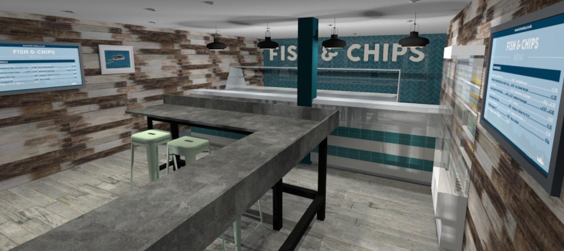 First Look At Ladram Bay S New Chip Shop Fruition Devon Interior Design