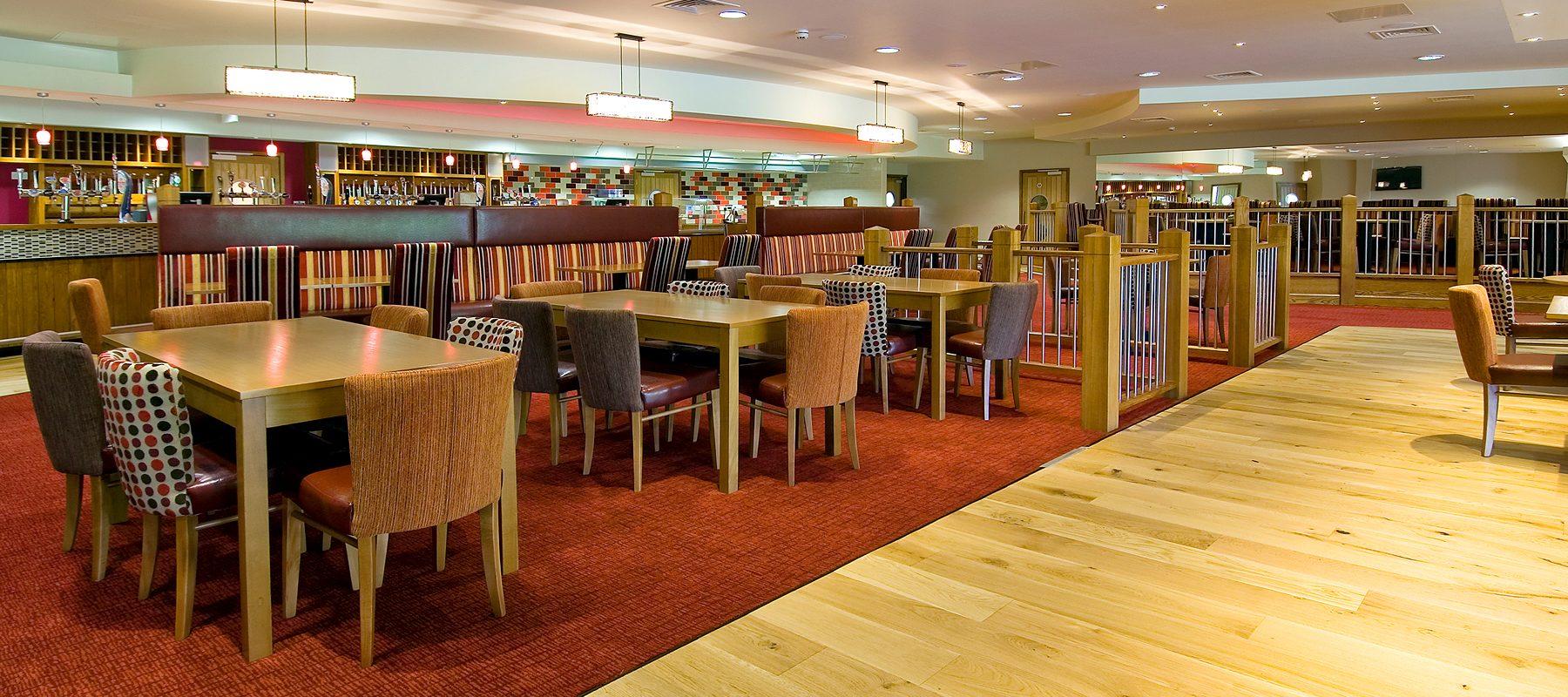 wooden floor finish restaurant interior scheme design pattern