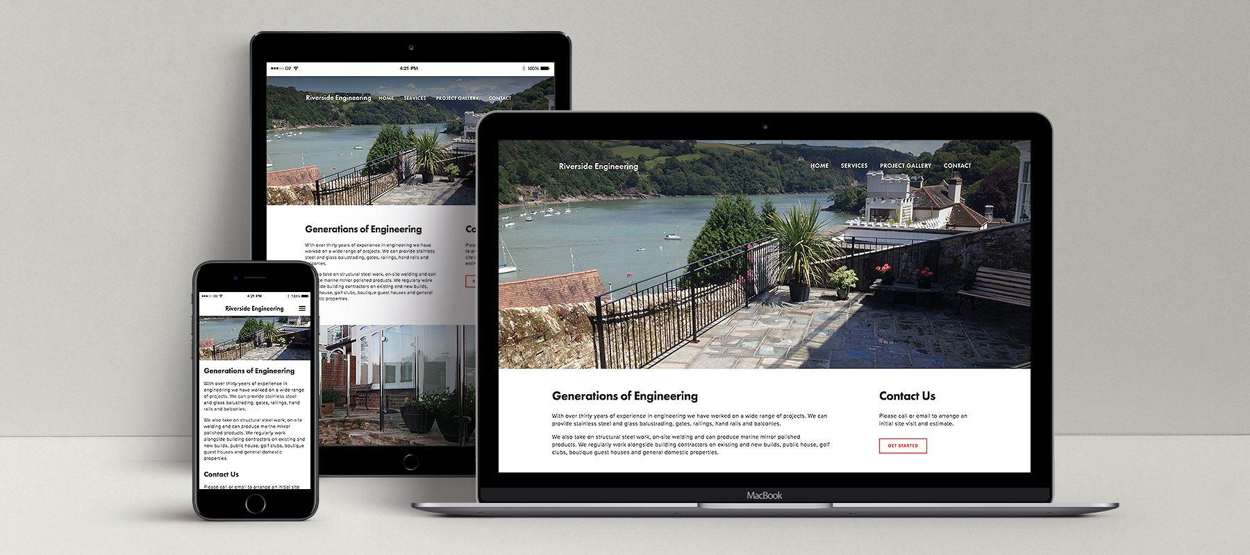 laptop smart phone mockup riverside engineering responsive website design