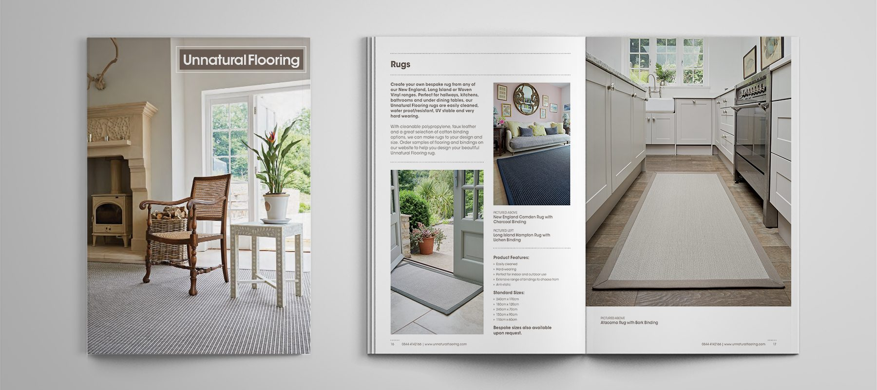 unnatural flooring product brochure rugs john lewis editorial design